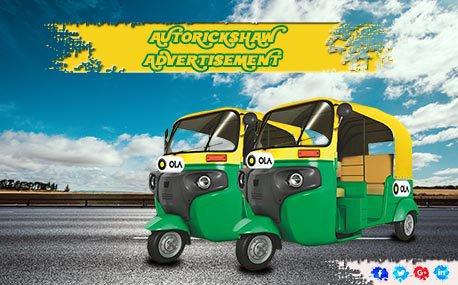 Outdoor Auto Rickshaw Advertising
