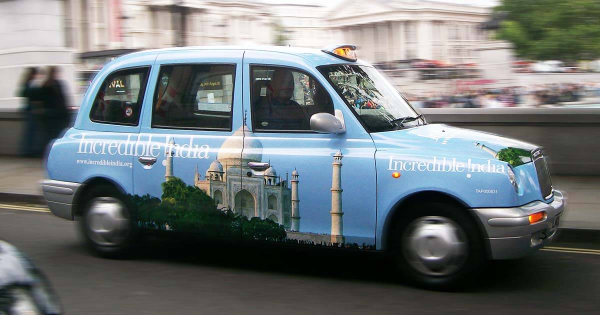 Outdoor Cab Taxi Advertising