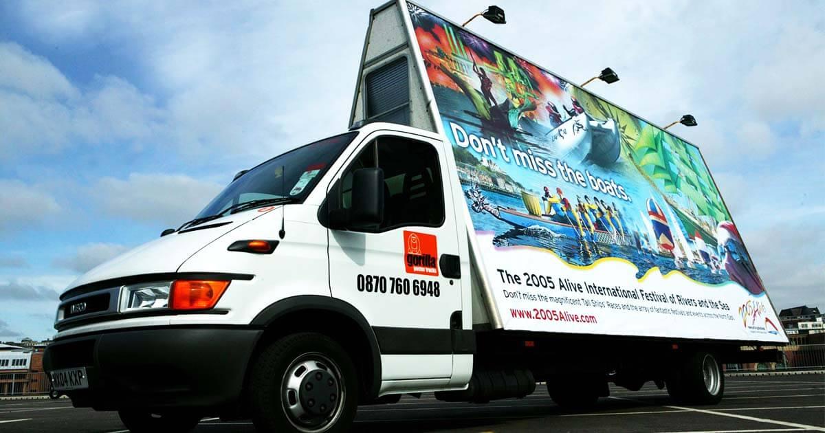 Outdoor Mobile Van Advertising