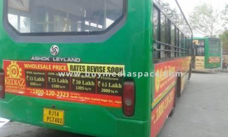 Bus OOH advertising in ,Jaipur, Rajasthan, India