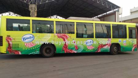 Bus OOH advertising in ,Bengaluru, Karnataka, India
