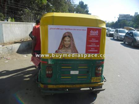 Auto Rickshaw OOH advertising in ,Ahmedabad, Gujarat, India