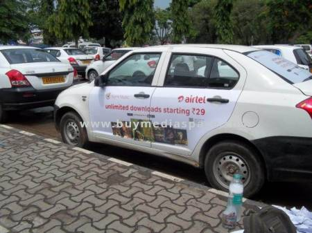 Cab Taxi OOH advertising in ,Guwahati, Assam, India