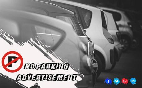 Premium No Parking Board Branding - Half Tin Sheets
