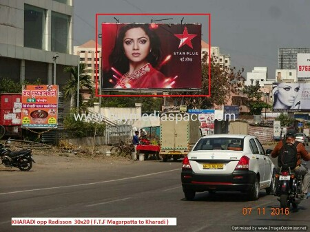 Billboard OOH advertising in Kharadi,Pune, Maharashtra, India