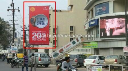 Billboard OOH advertising in astron chowk,Rajkot, Gujarat, India