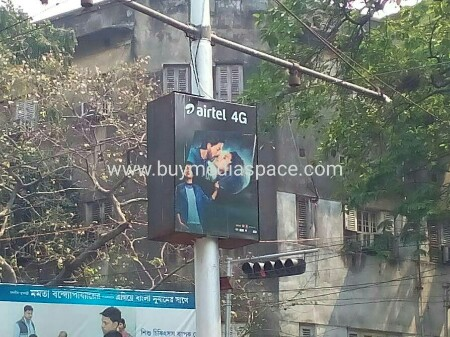 Lamppost OOH advertising in Rashbehari Avenue,Kolkata, West Bengal, India