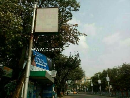 Lamppost OOH advertising in Old Ballygunge Phari,Kolkata