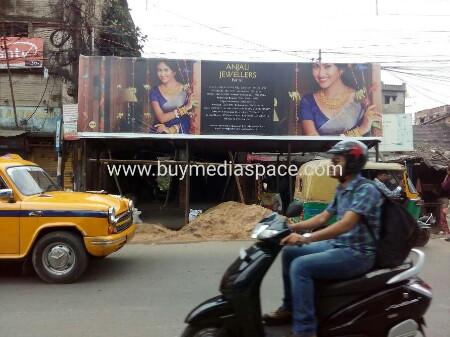 Bus Shelter OOH advertising in Kamalgazi,Kolkata, West Bengal, India