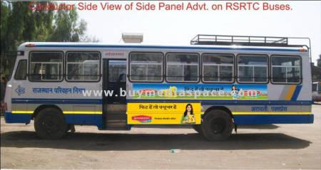 Bus OOH advertising in ,Jaipur, Rajasthan, India
