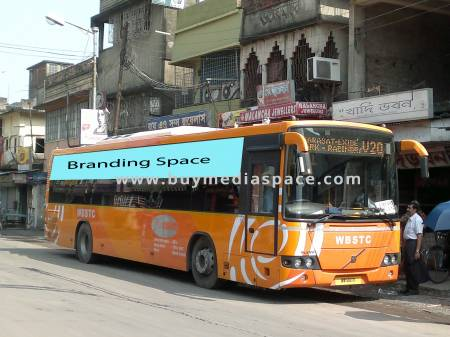 Bus OOH advertising in ,Kolkata, West Bengal, India