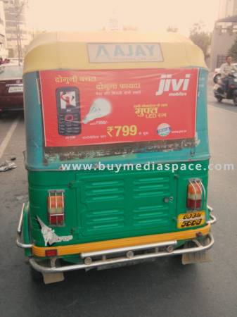 Auto Rickshaw OOH advertising in ,Rajkot, Gujarat, India