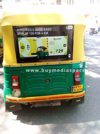 Auto Rickshaw OOH advertising in ,Bengaluru, Karnataka, India