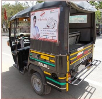 Auto Rickshaw OOH advertising in ,Ajmer, Rajasthan, India