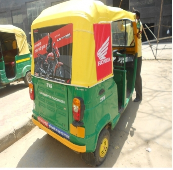 Auto Rickshaw OOH advertising in ,Kanpur, Uttar Pradesh, India