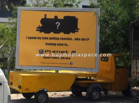 Mobile Van OOH advertising in ,Jaipur, Rajasthan, India