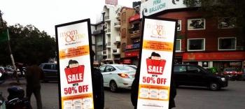 Look walker OOH advertising in ,Mumbai, Maharashtra, India