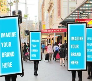 Look walker OOH advertising in ,Delhi, India